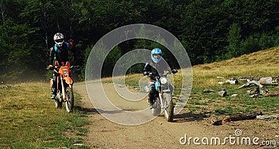 Enduro riders Editorial Stock Image