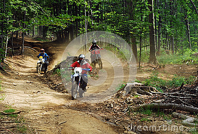 Enduro riders Editorial Image