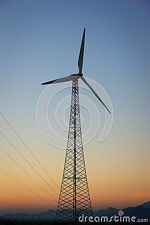 Energía eólica, Palm Spring, California