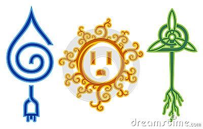 Energía eólica solar del agua