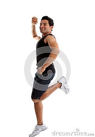 Energetic active man success