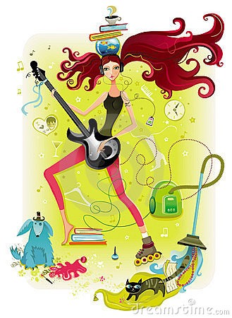 Free Energetic Girl Stock Image - 5188101