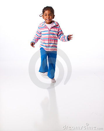 Energetic little girl