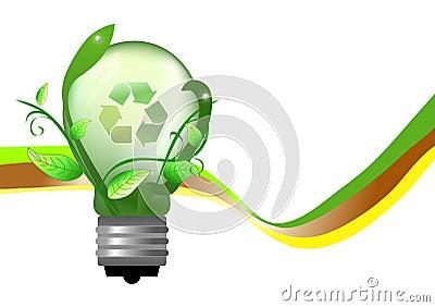 Energie - besparing lightbulb