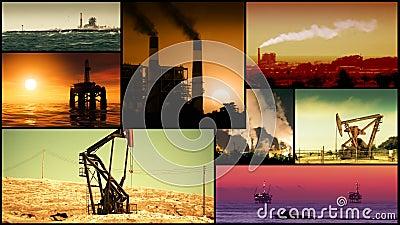Energie-, Energie-und Brennstoff-Video-Montage stock footage