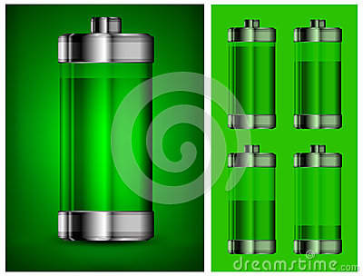 Energy battery in green