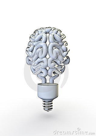 Free Energy Bulb Brain Royalty Free Stock Image - 19775416