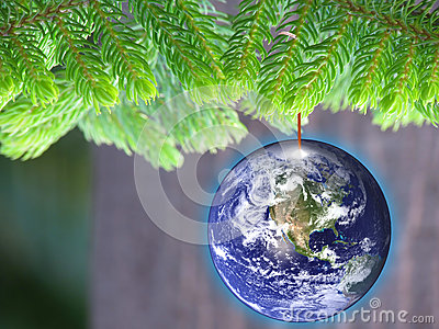 Energy conservation eco friendly Christmas