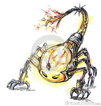 energy consume monster, scorpion bulb