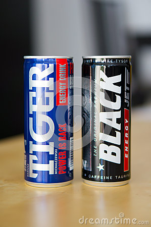 Energy drinks Editorial Stock Photo