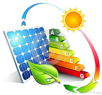 Energy efficiency of the photovoltaic Stock Photo