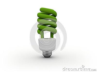 Energy efficient light bulb Green