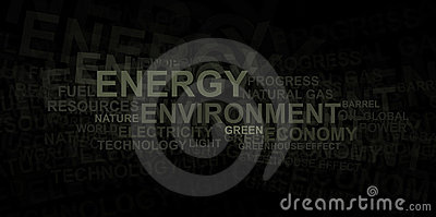 Energy and environment – word cloud