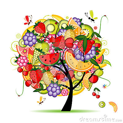 Free Energy Fruit Tree For Your Design Royalty Free Stock Images - 16883539