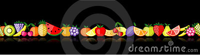 Energy fruits. Vector seamless