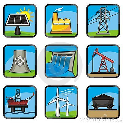 Free Energy Icons Stock Image - 12659351