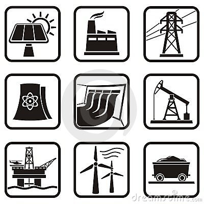 Free Energy Icons Stock Photos - 12659353