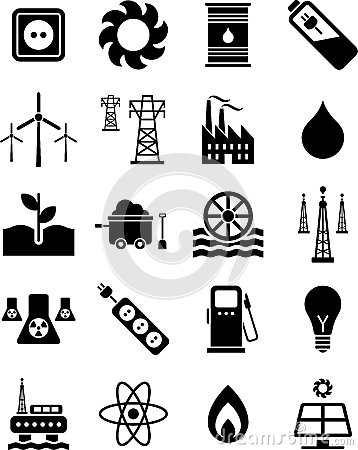 Free Energy Icons Royalty Free Stock Images - 24834109
