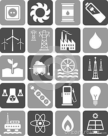Free Energy Icons Royalty Free Stock Image - 24834116