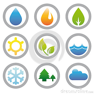 Energy, Nature and Environment Symbols Collection