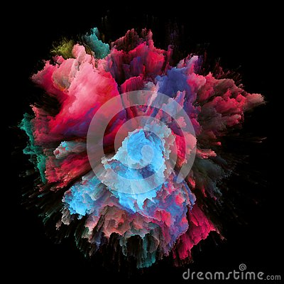 Free Energy Of Color Splash Explosion Stock Photography - 133145242