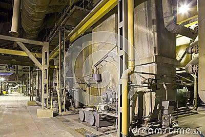 Energy plant interior