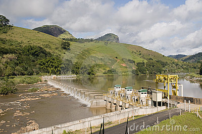 Energy production:  hydroelectric power plant
