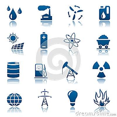 Energy & resource icon set