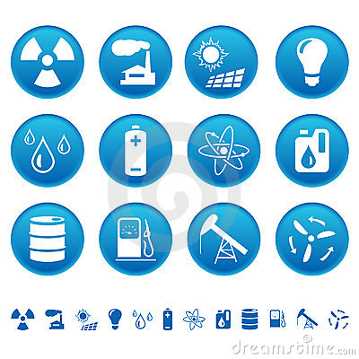 Energy & resource icons