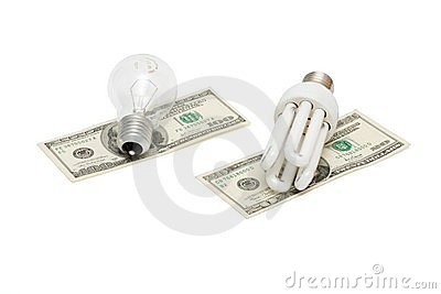 Energy save lamp vs bulb on money