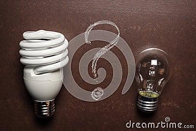 Energy saving lamp and glow lamp