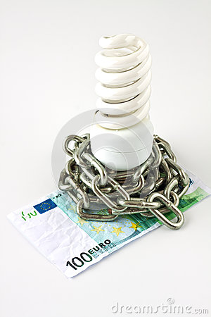 Energy saving lamp and money