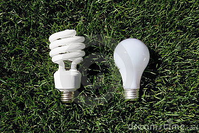 Energy Saving Light Bulb and Incandescent Bulb