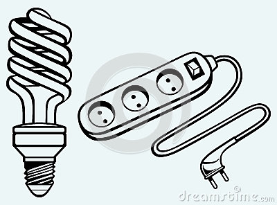 Energy saving light bulb and power surge