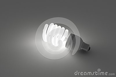 Energy saving light bulb, save energy light on