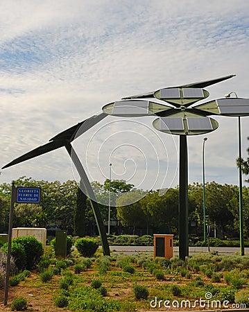 Energy solar  Flowers