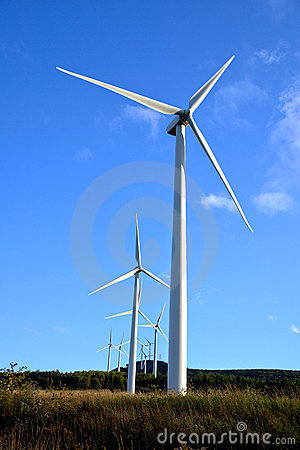 Energy Wind Turbine Farm with Windmill Turbines