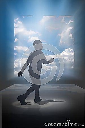 Enfant de marche rêveur