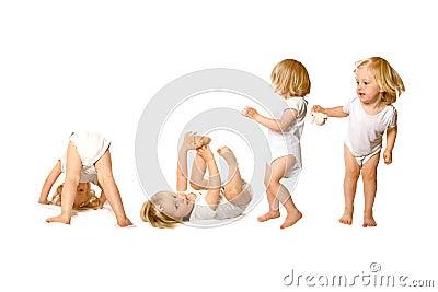 Enfant en bas âge dans l activité d amusement