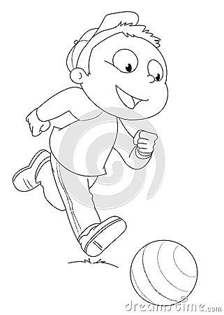 Enfant Jouant Avec La Bille Photo Stock Image 6496440