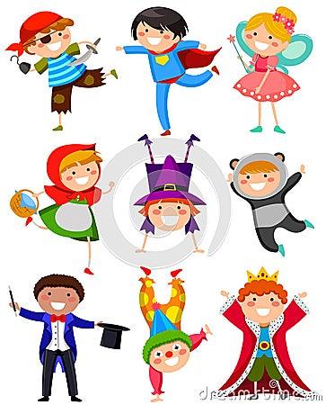 Enfants dans des costumes