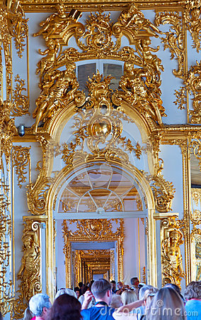 Enfilade of Catherine Palace Editorial Photography