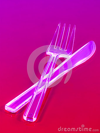 Engångskniv och gaffel