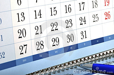 Engagement desk calendar
