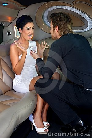 Engagement in limousine
