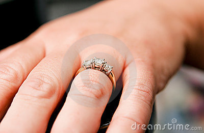 Engagement Ring Close Up Stock Photography - Image: 3715902