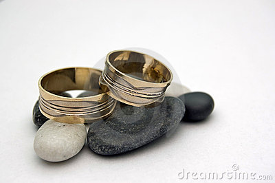 Engagement rings on stones