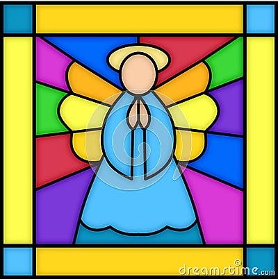 Engel in gebrandschilderd glas