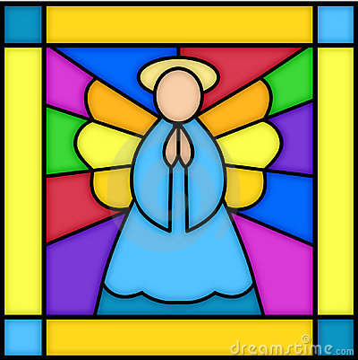 Engel im Buntglas