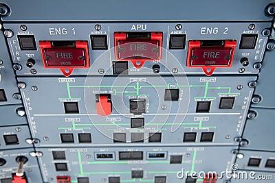 Engine Fire Warning Switches Stock Image Image 18627361